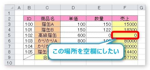 表示 させない 0 エクセル 【すぐ使える!】エクセルで0を表示しない方法-「0」非表示の裏ワザ&エラー対処法も!