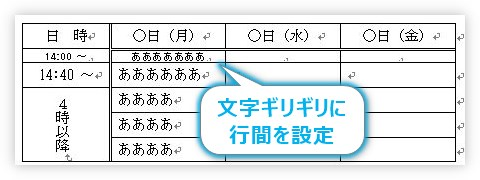 Word 行間 狭く